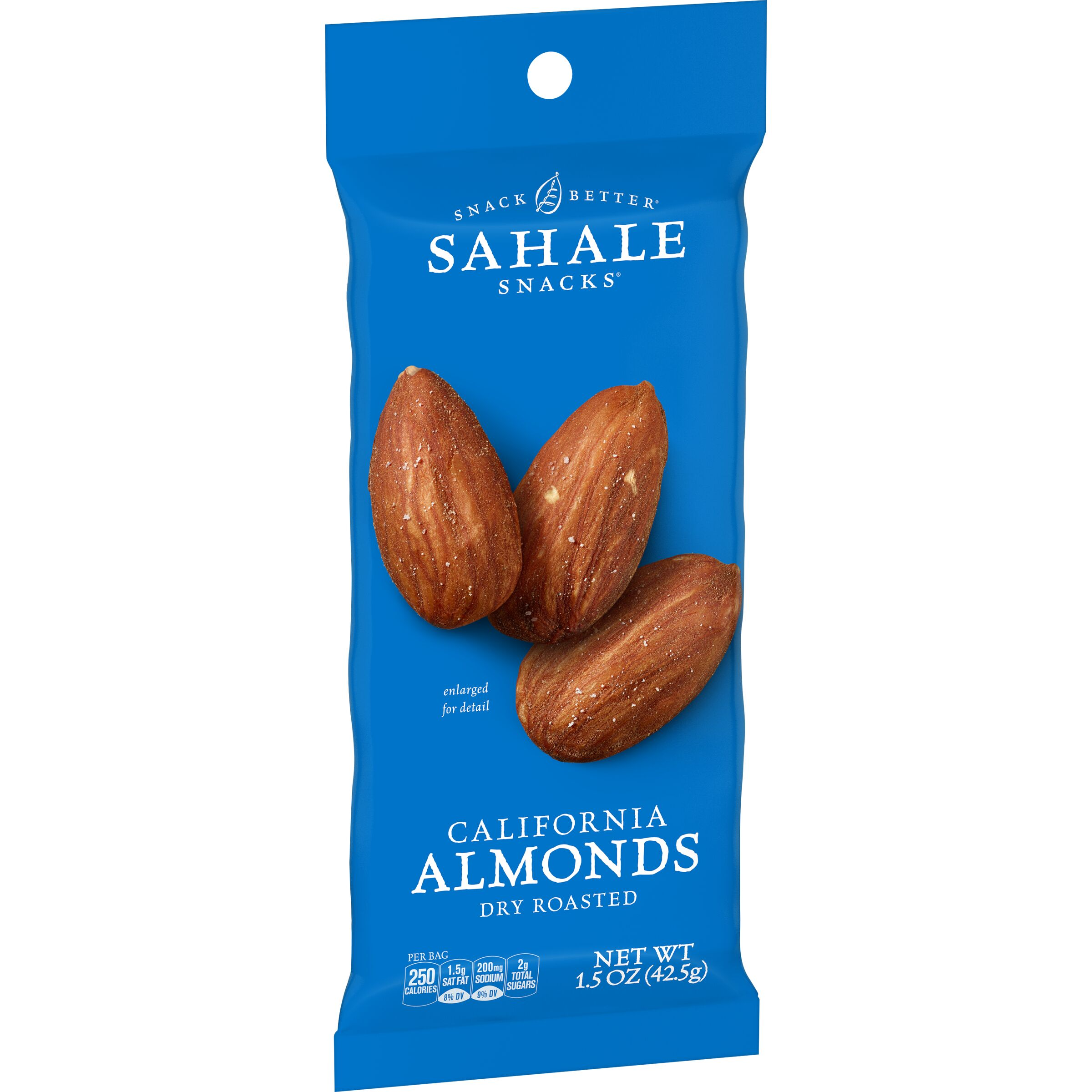 Sahale Snacks  Grab & Go California Almonds Dry Roasted