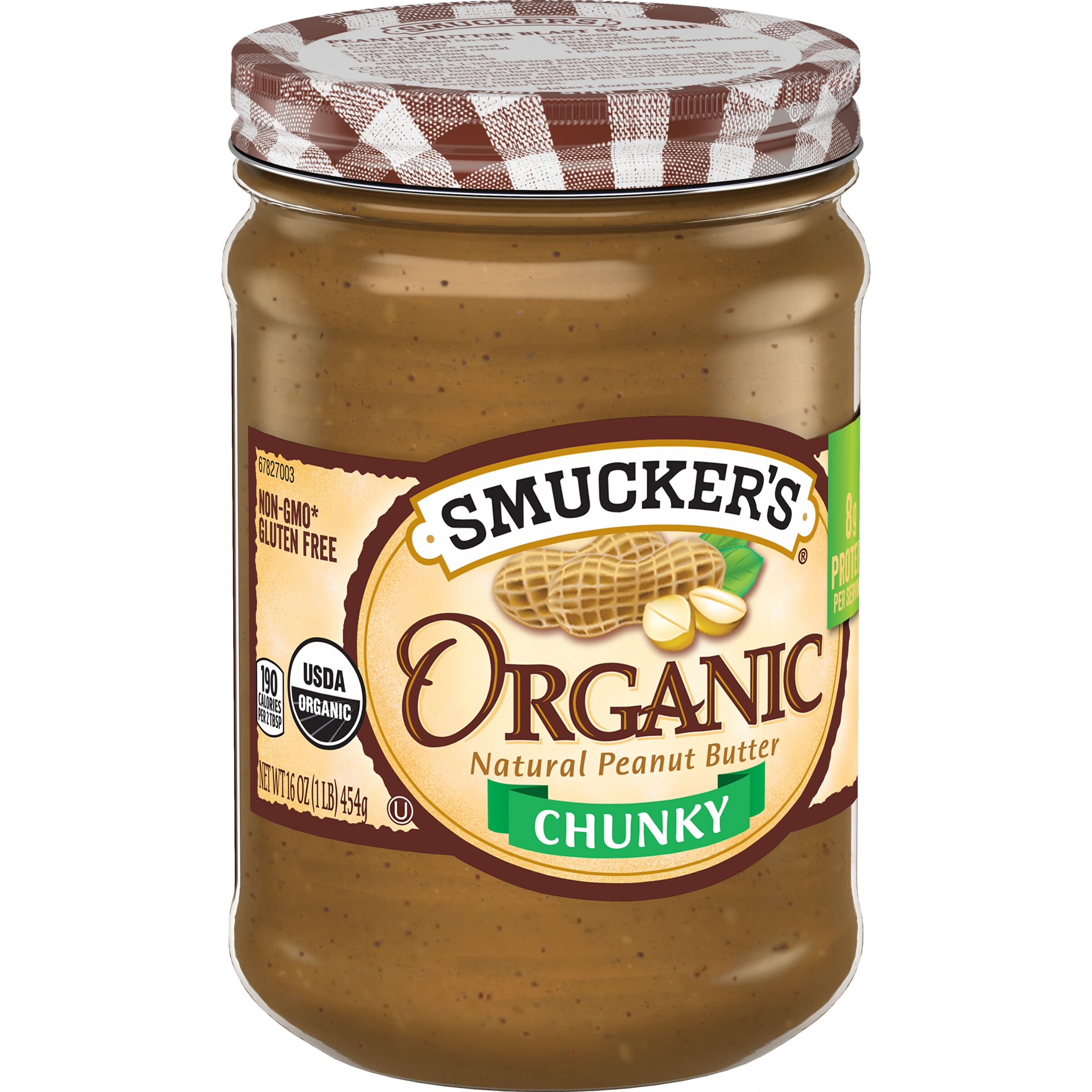 Smucker's  Organic Chunky Natural Peanut Butter