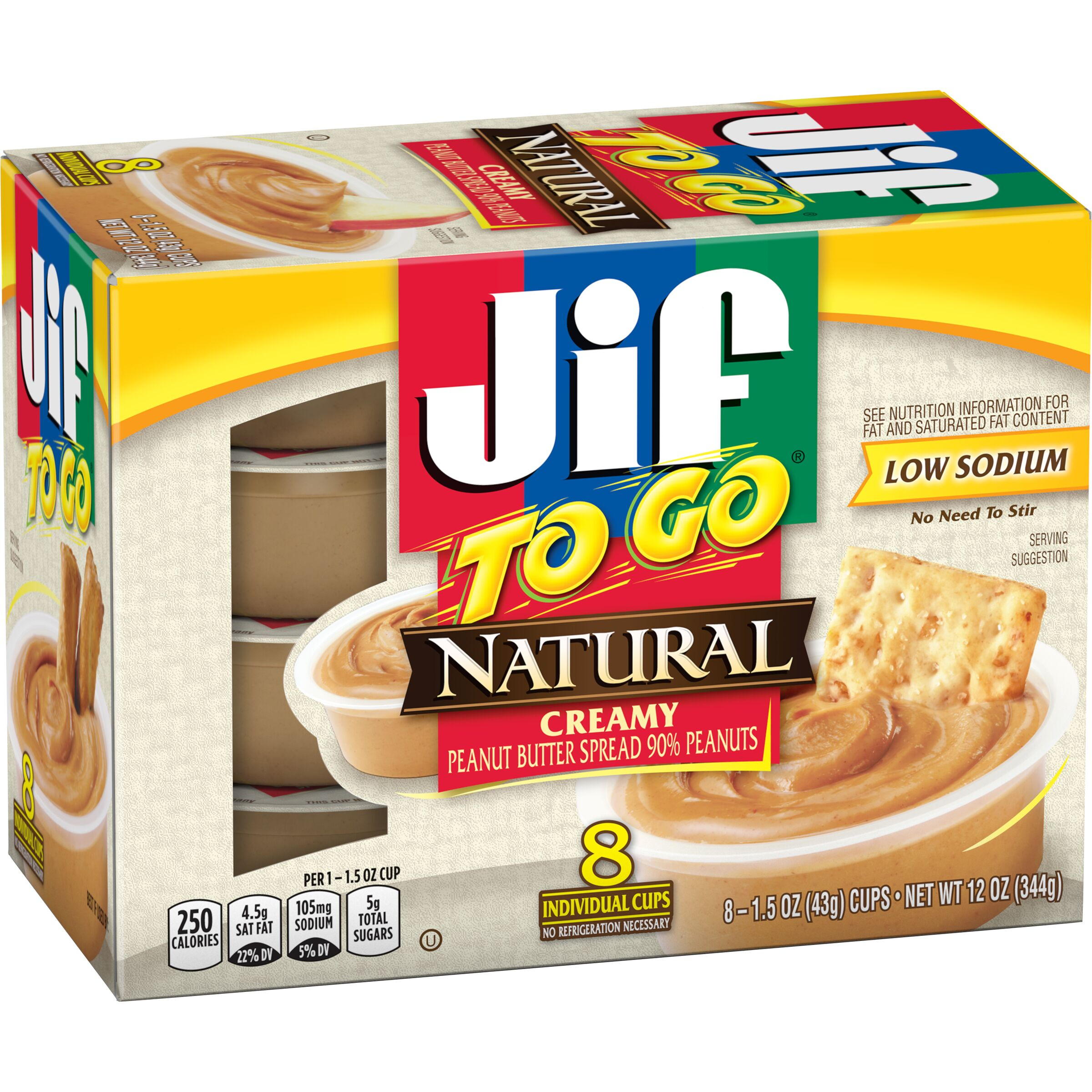 Jif<sup>®</sup> To Go Natural Creamy Peanut Butter Spread