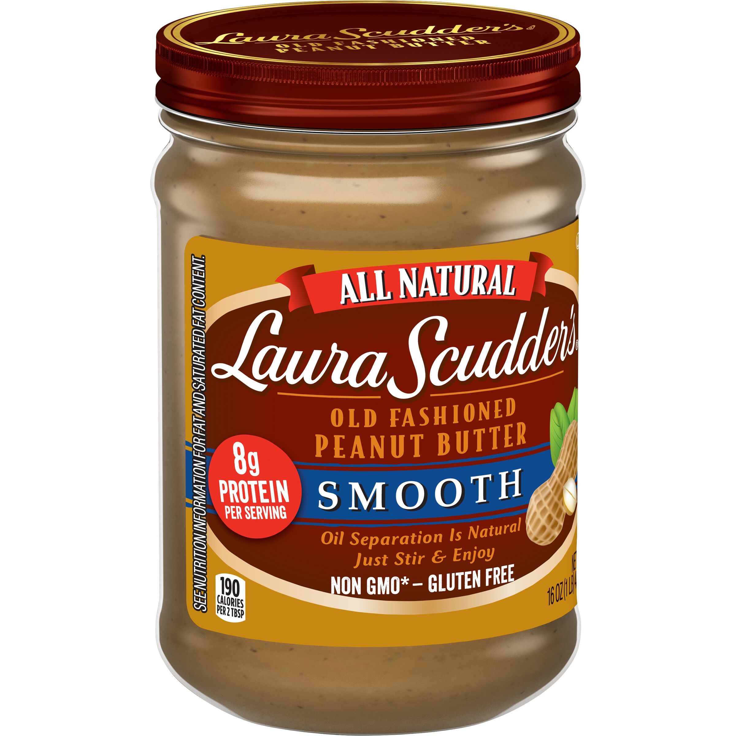 Laura Scudder's<sup>&reg;</sup>  Natural Smooth Peanut Butter