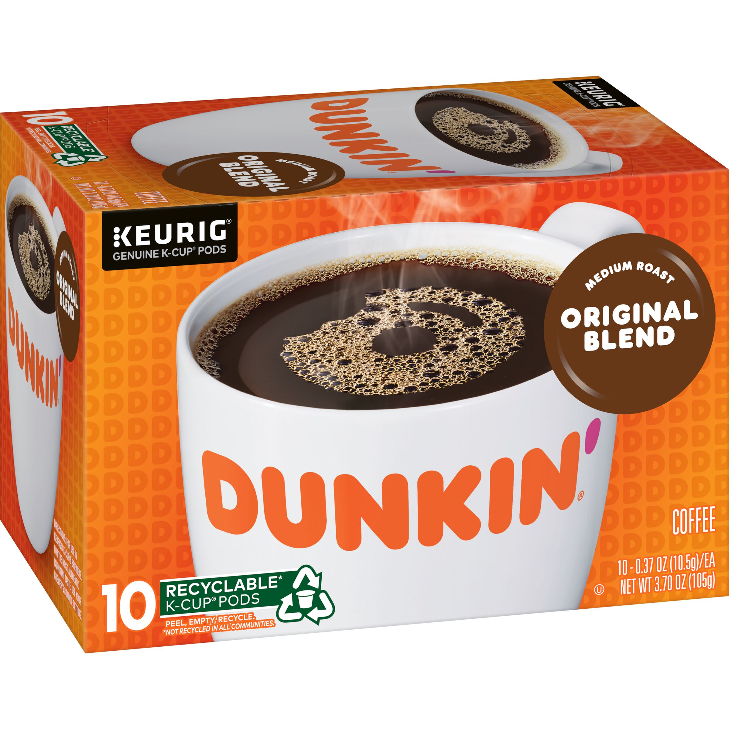 Dunkin'<sup>®</sup>  Original Blend K-Cup Pods, 10 Count