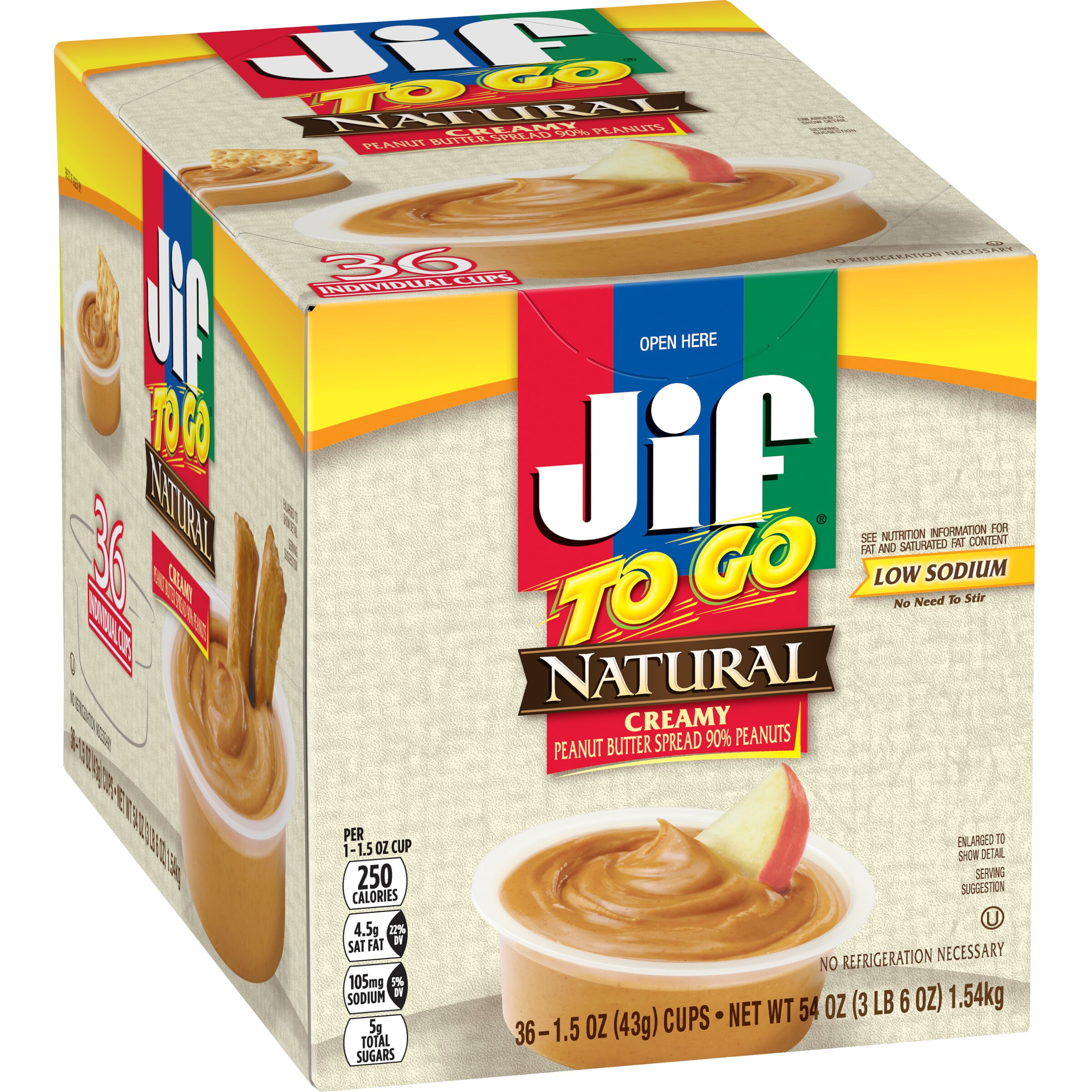 Jif  To Go® Natural Creamy Peanut Butter Spread