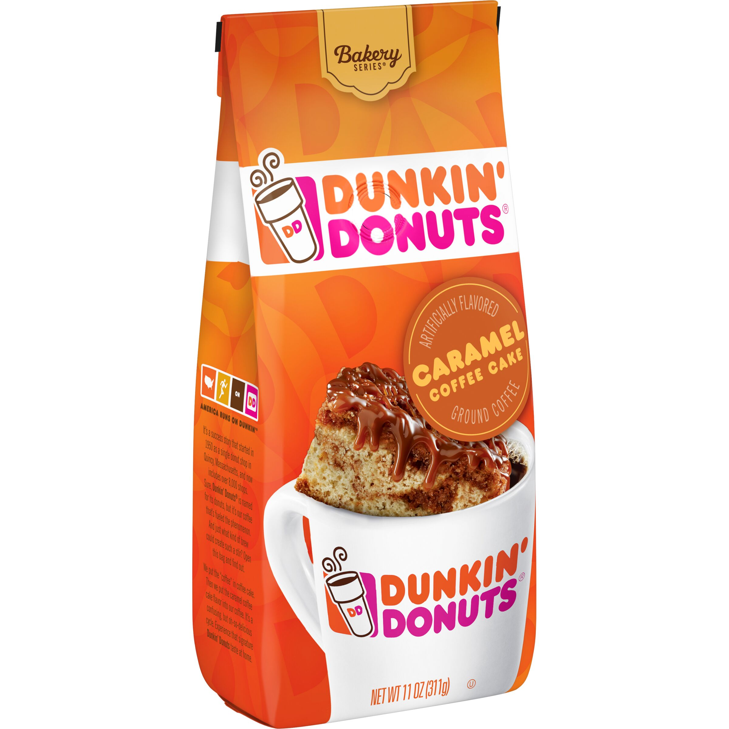 Dunkin' Donuts Bakery Series Caramel Coffee Cake Flavored Coffee