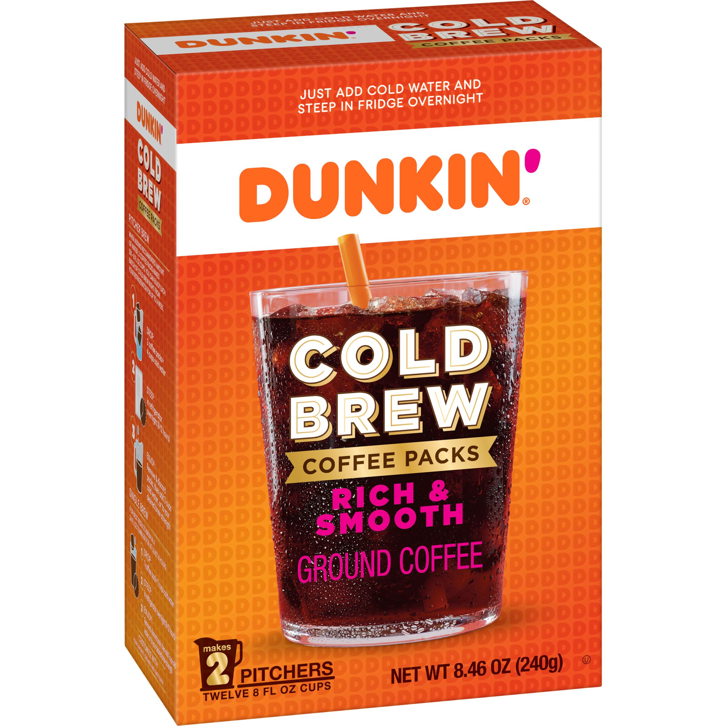 Dunkin'  Cold Brew Coffee Packs