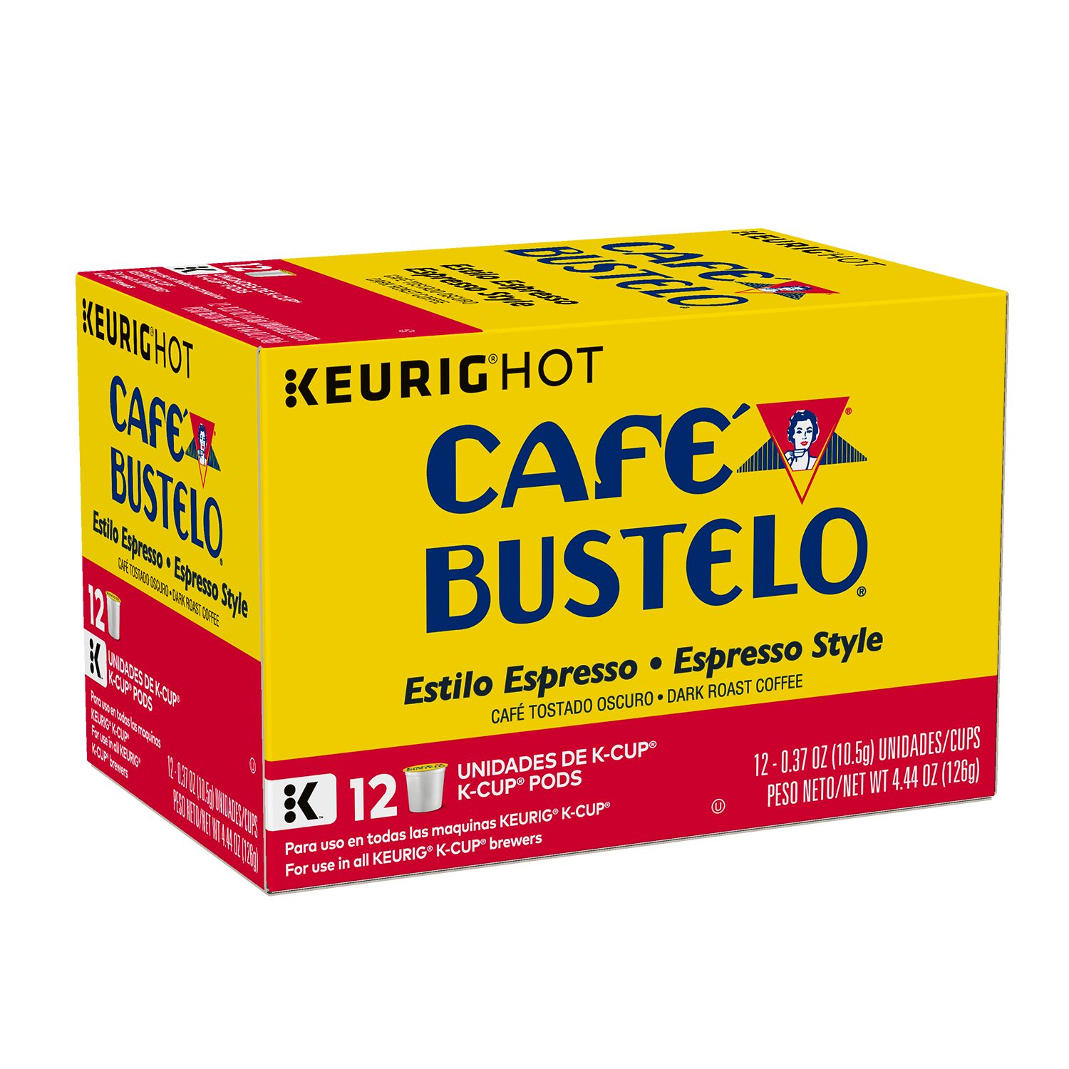 Cafe Bustelo  Espresso Style Coffee K-Cup® Pods, 12 Count