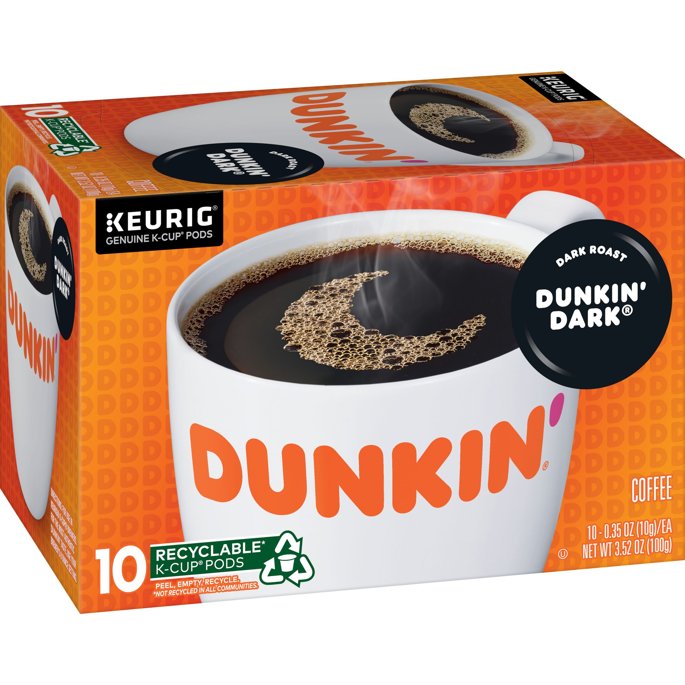 Dunkin' Donuts<sup>®</sup>  Dunkin' Dark® K-Cup Pods, 10 Count