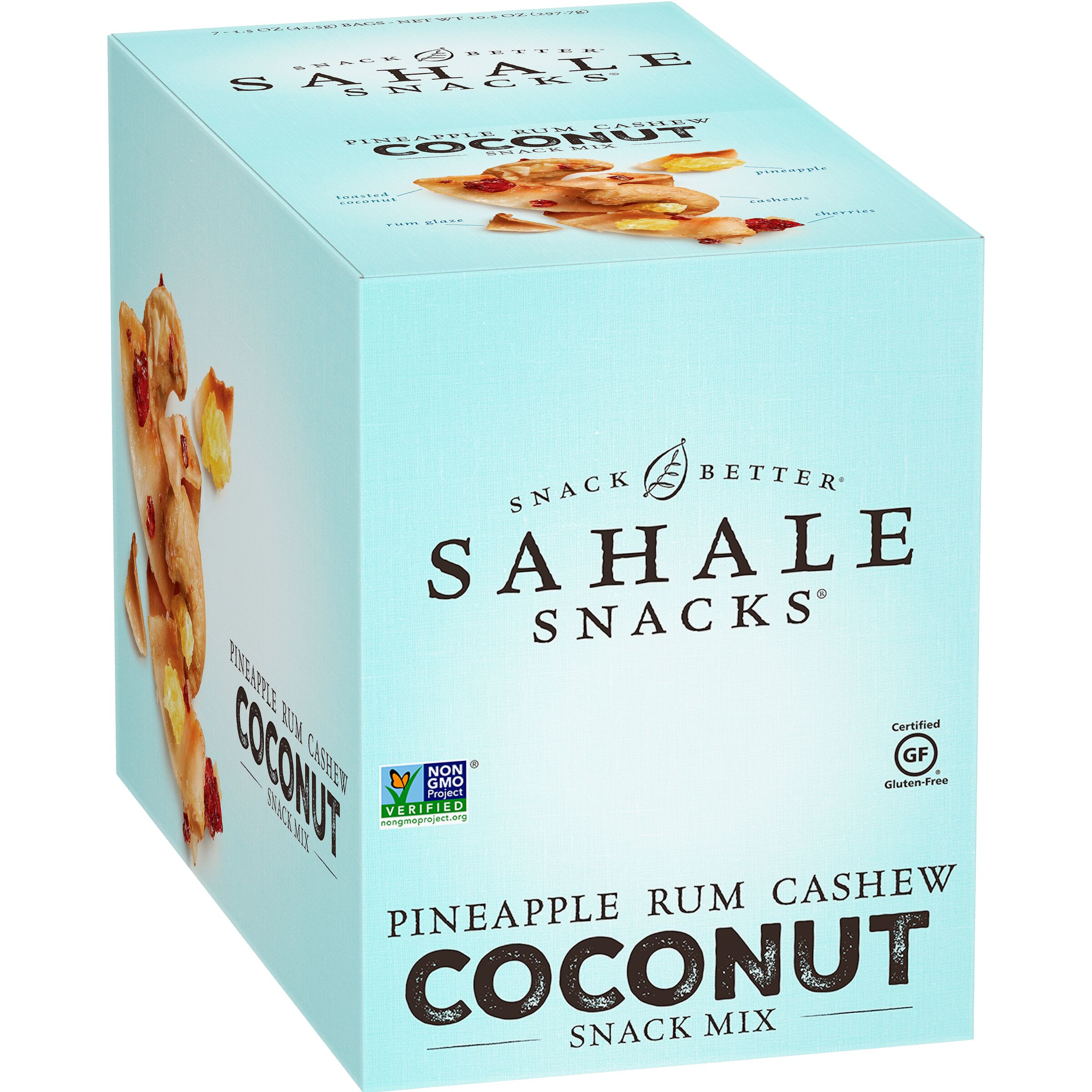 Sahale Snacks<sup>®</sup>  Grab & Go Pineapple Rum Cashew Coconut Snack Mix