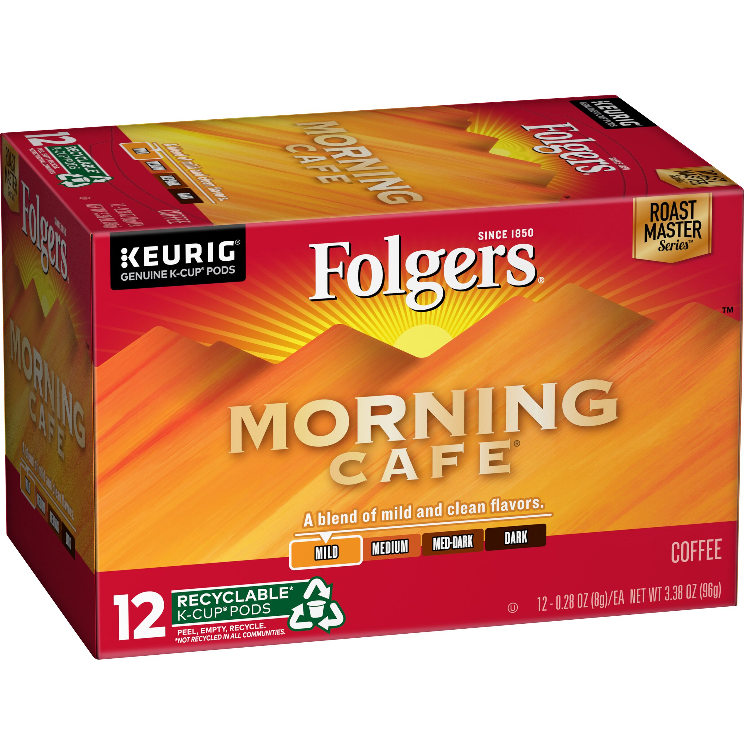 Folgers  Morning Cafe® Coffee K-Cup Pods, 12 count