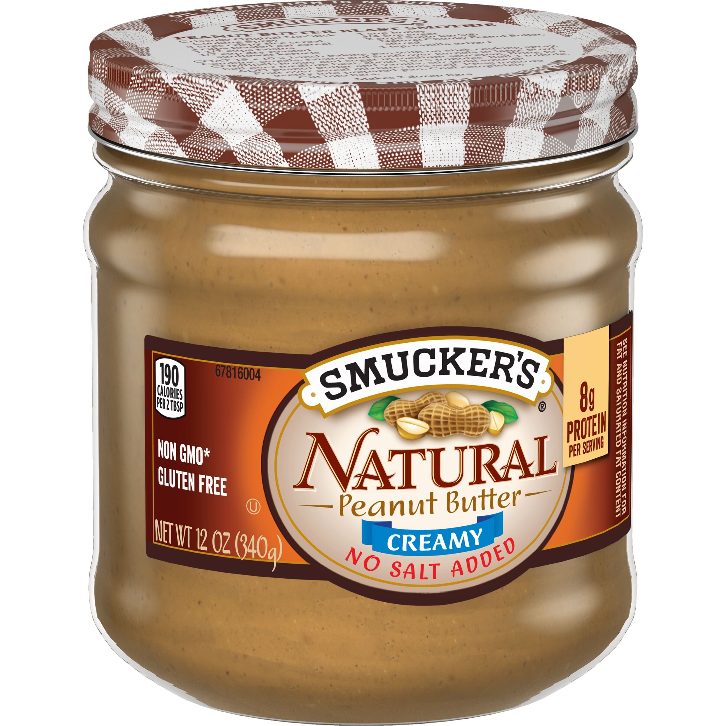 Smucker's<sup>®</sup>  Natural Creamy Peanut Butter with No Salt Added