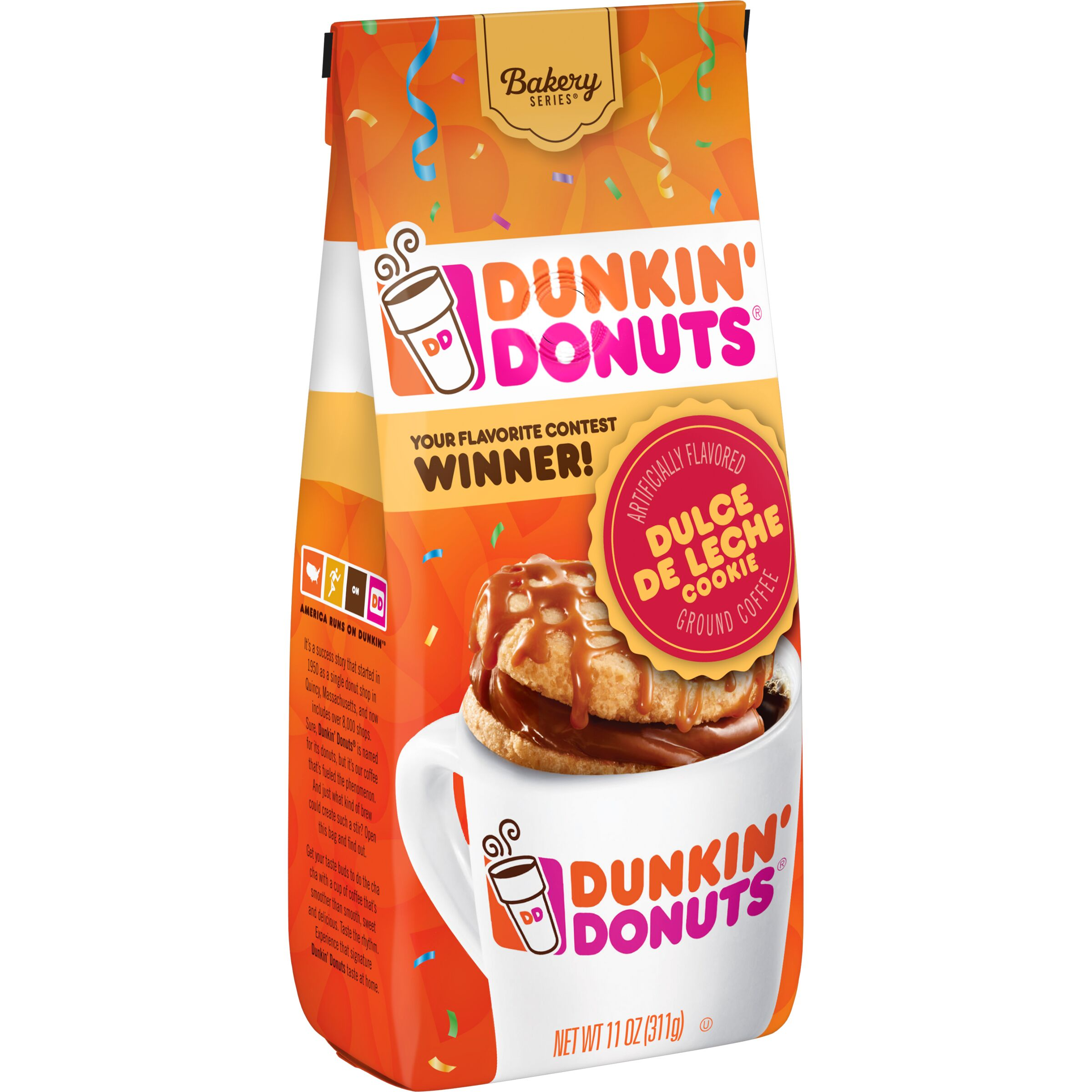 Dunkin' Donuts Bakery Series Dulce De Leche Cookie Flavored Coffee