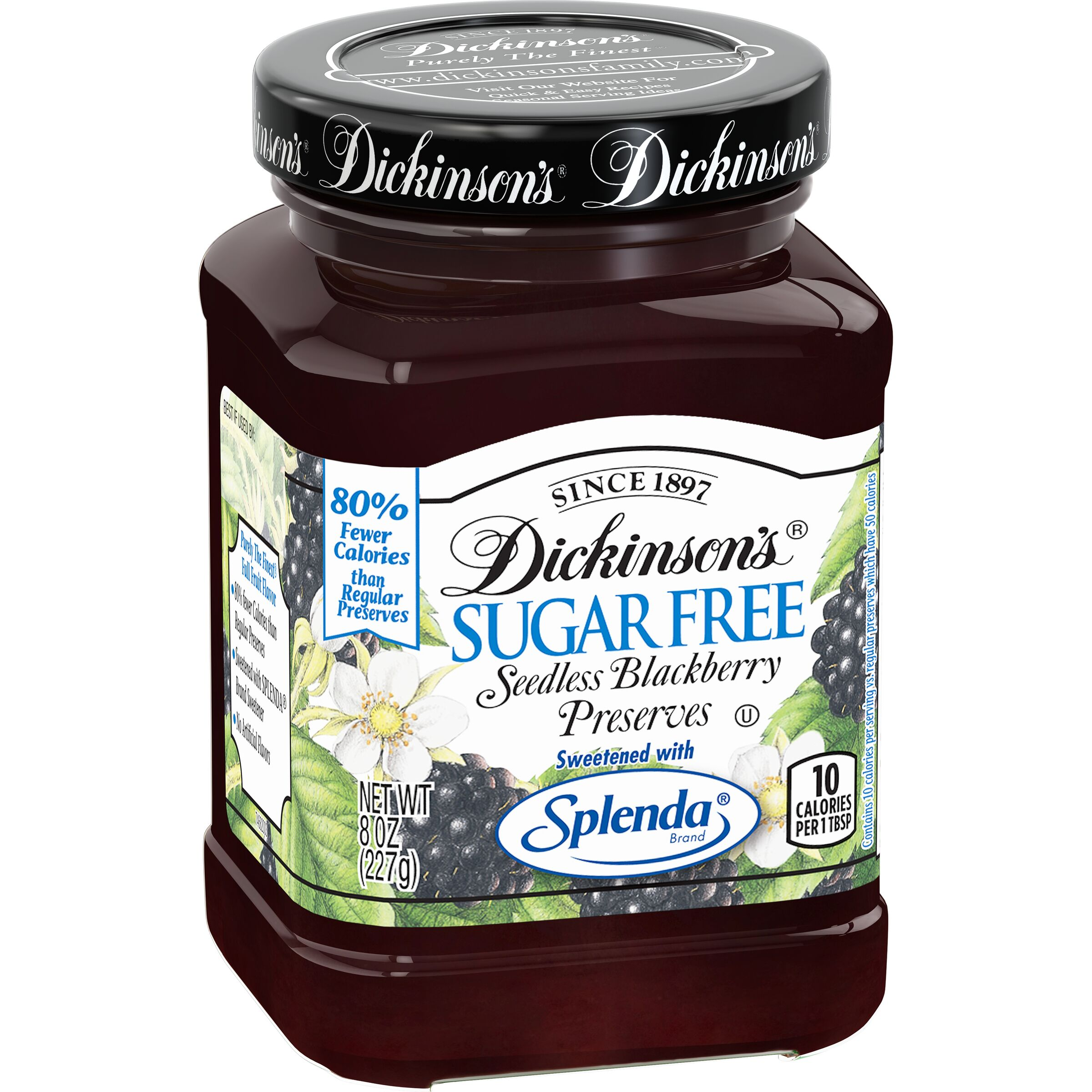 Dickinson's<sup>®</sup>  Sugar Free Seedless Blackberry Preserves
