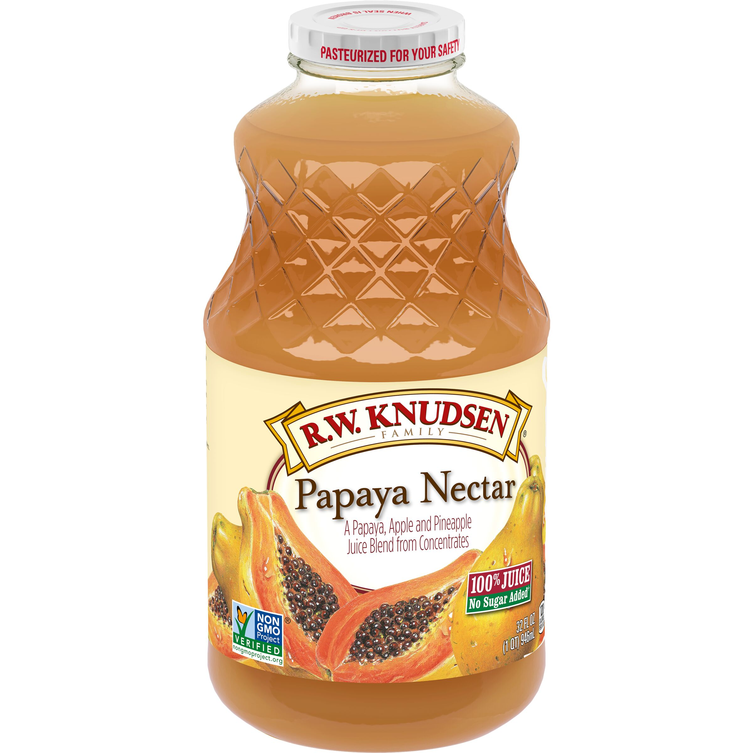 R.W. Knudsen Family  Papaya Nectar Juice