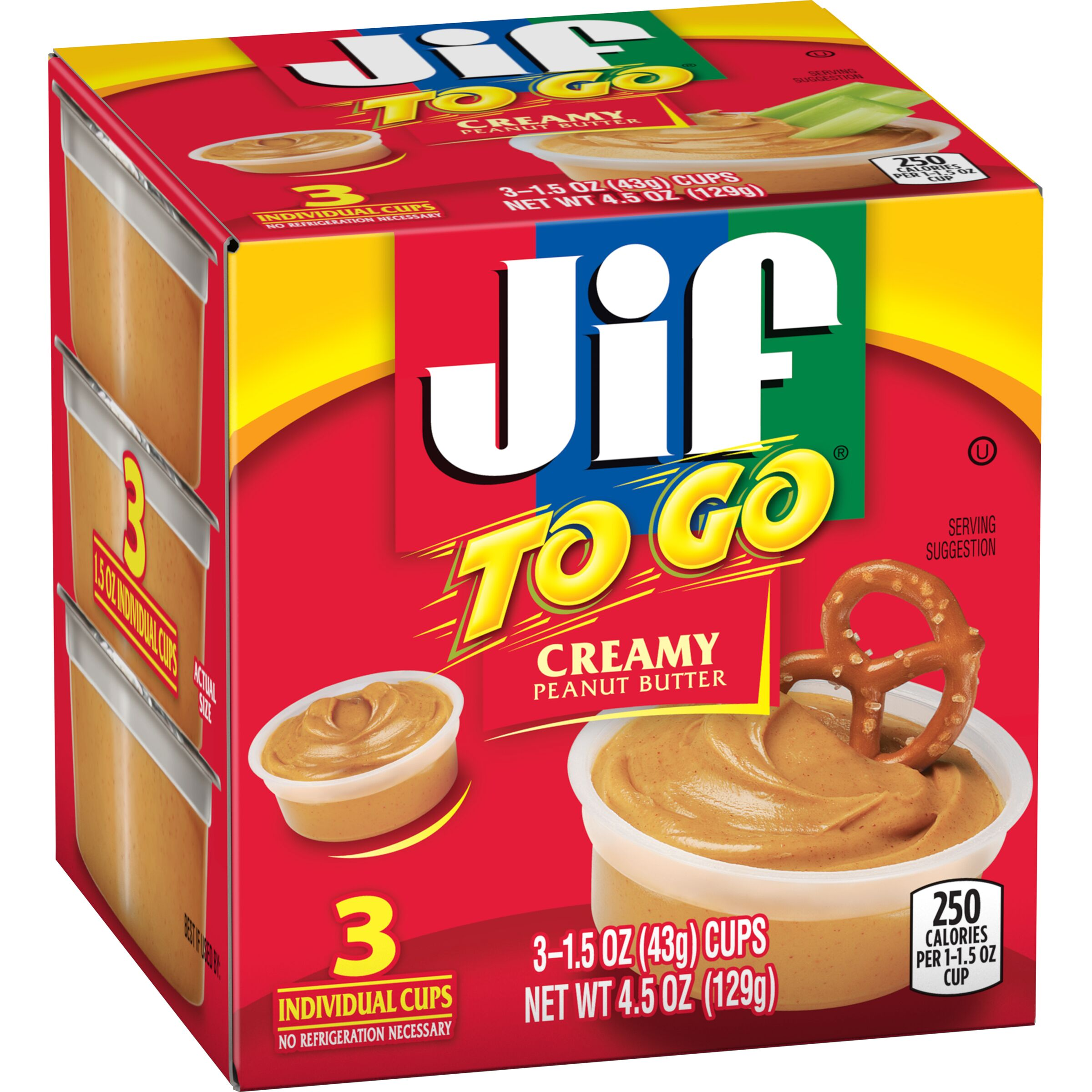 Jif<sup>®</sup> To Go Creamy Peanut Butter