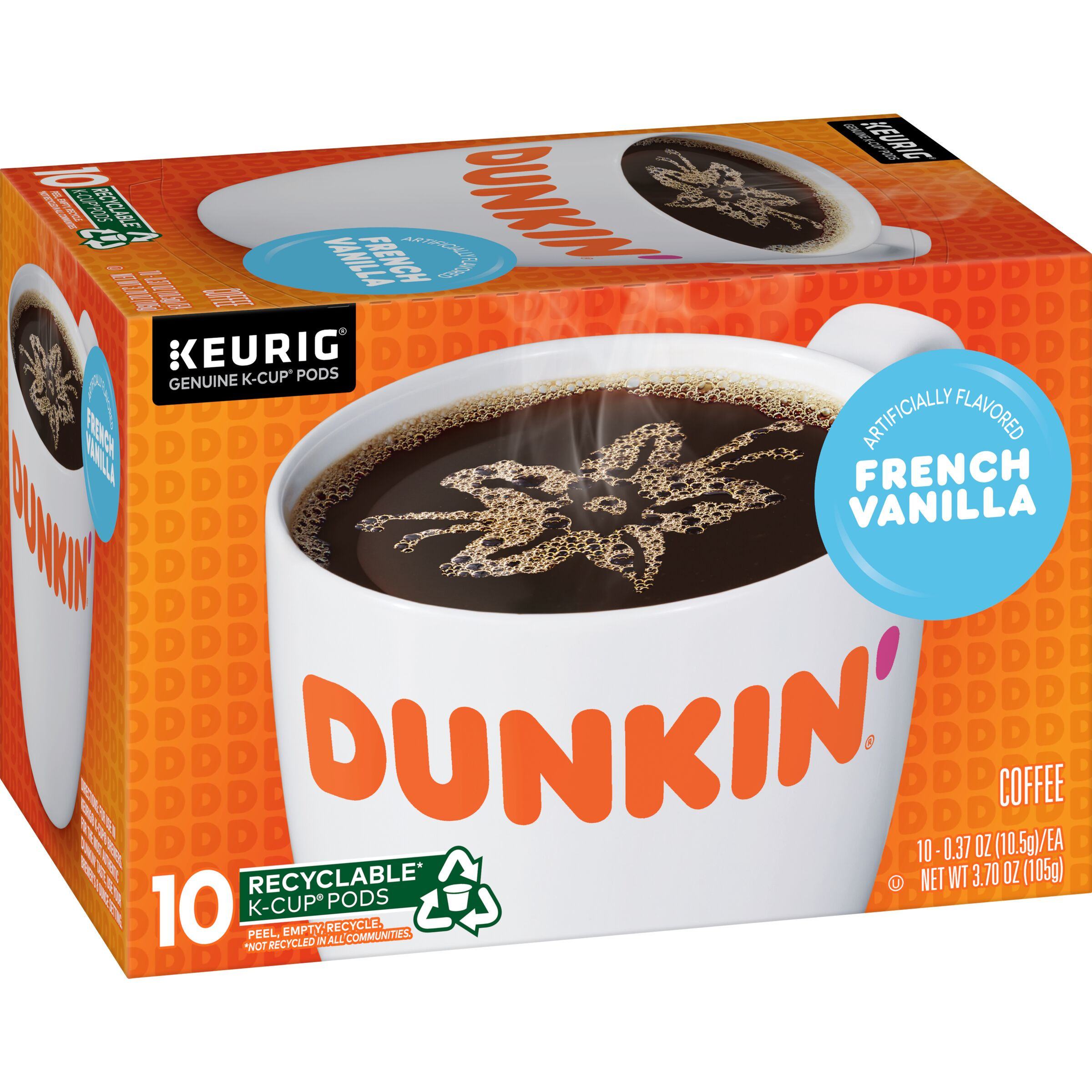 Dunkin'  French Vanilla K-Cup® Pods, 10 Count