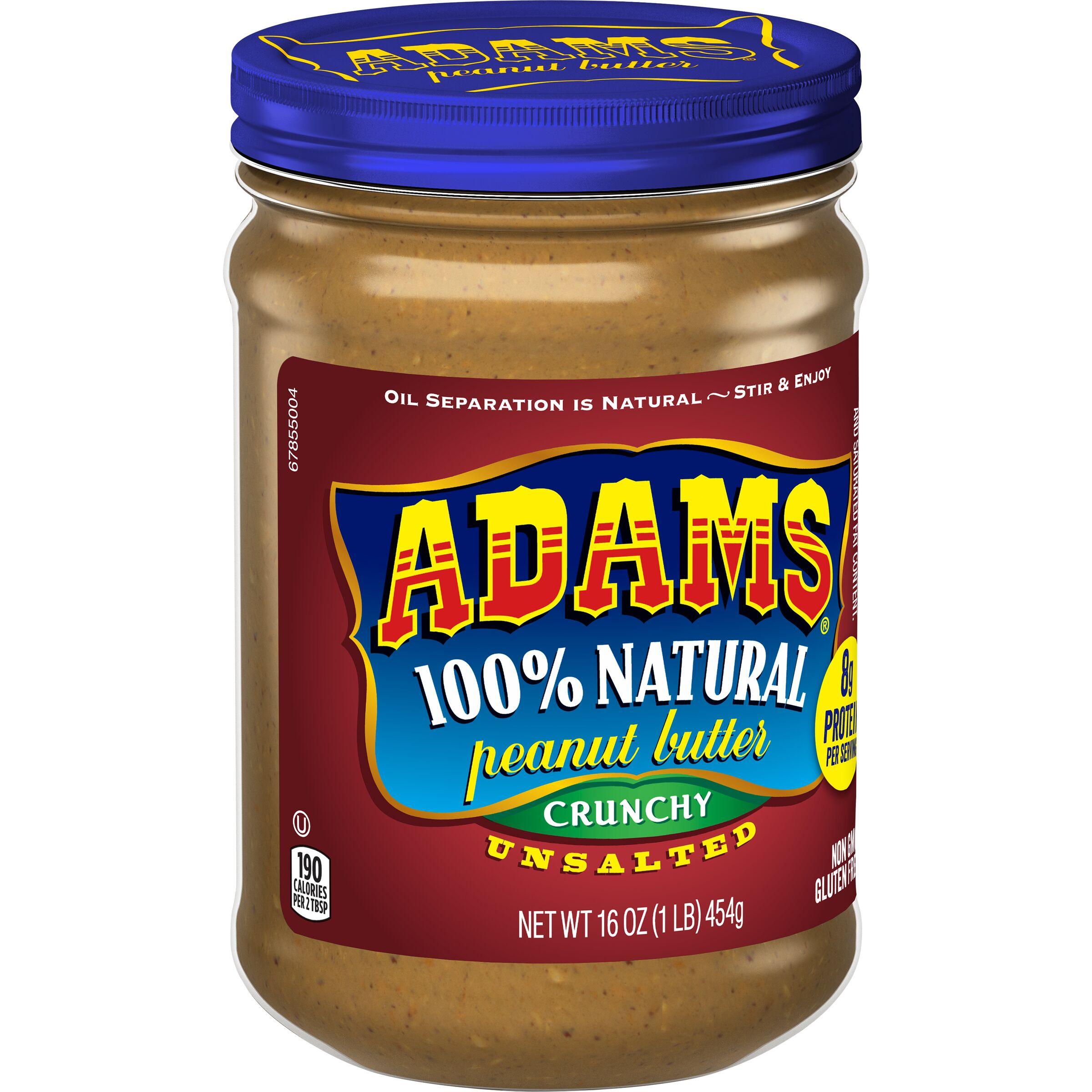 Adams  Natural Crunchy Unsalted Peanut Butter
