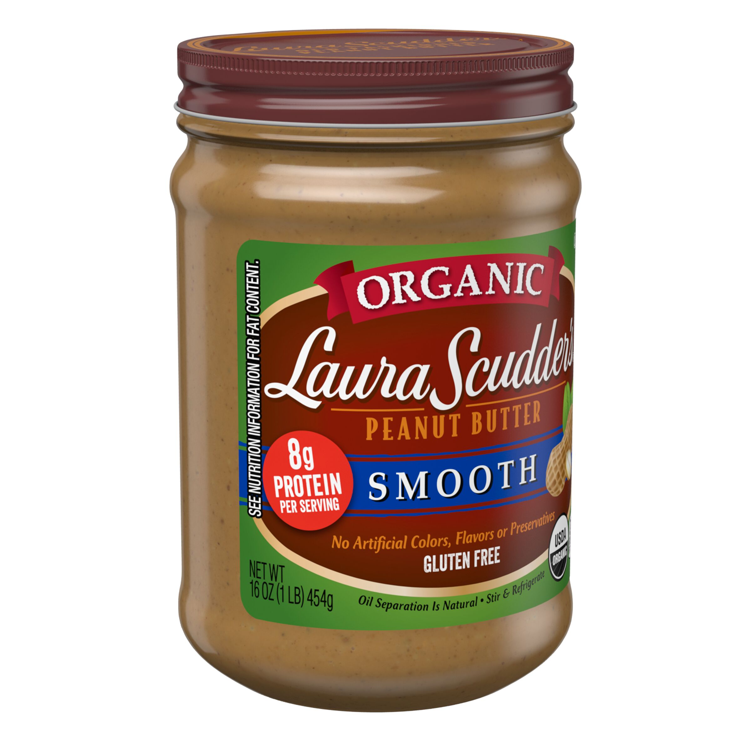 Laura Scudder's  Organic Smooth Peanut Butter