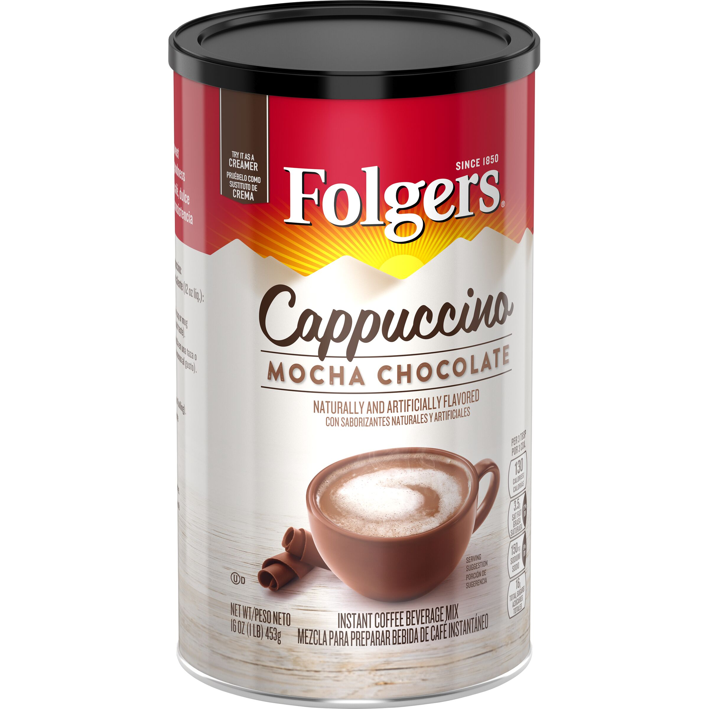 Folgers Cappuccinos Mocha Chocolate Flavored Cappuccino Mix