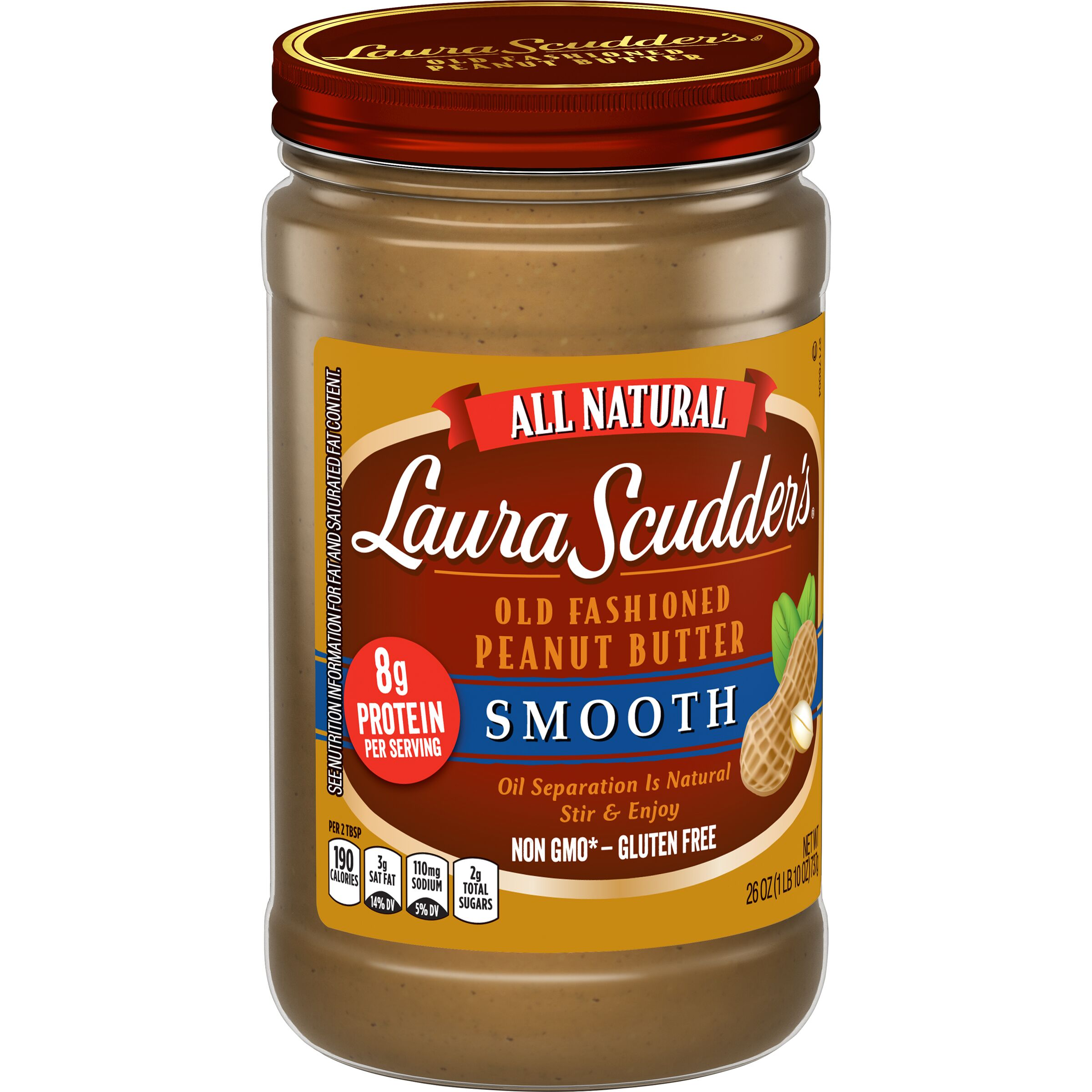 Laura Scudder's  Natural Smooth Peanut Butter
