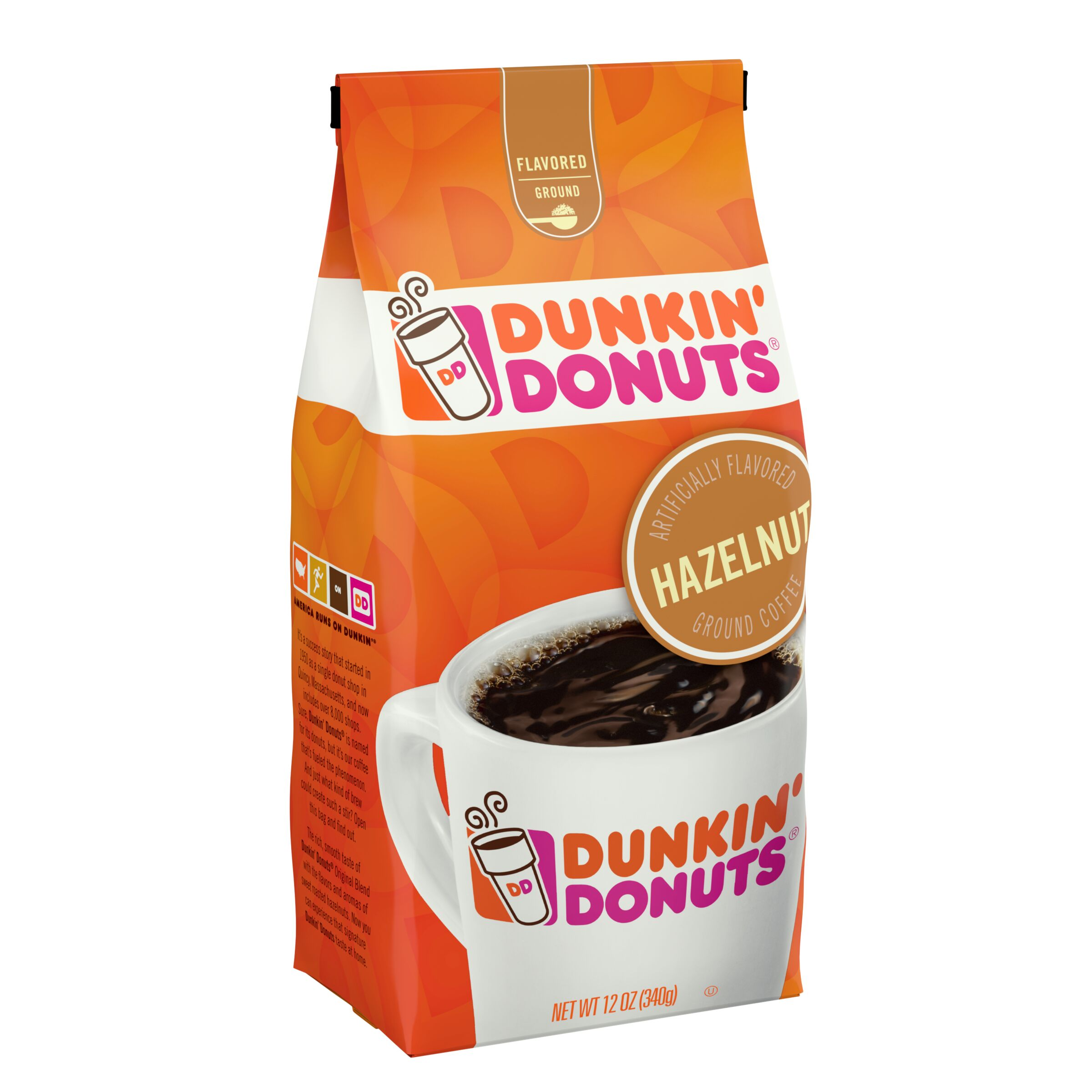 Dunkin' Donuts® Hazelnut Flavored Coffee - SmartLabel™