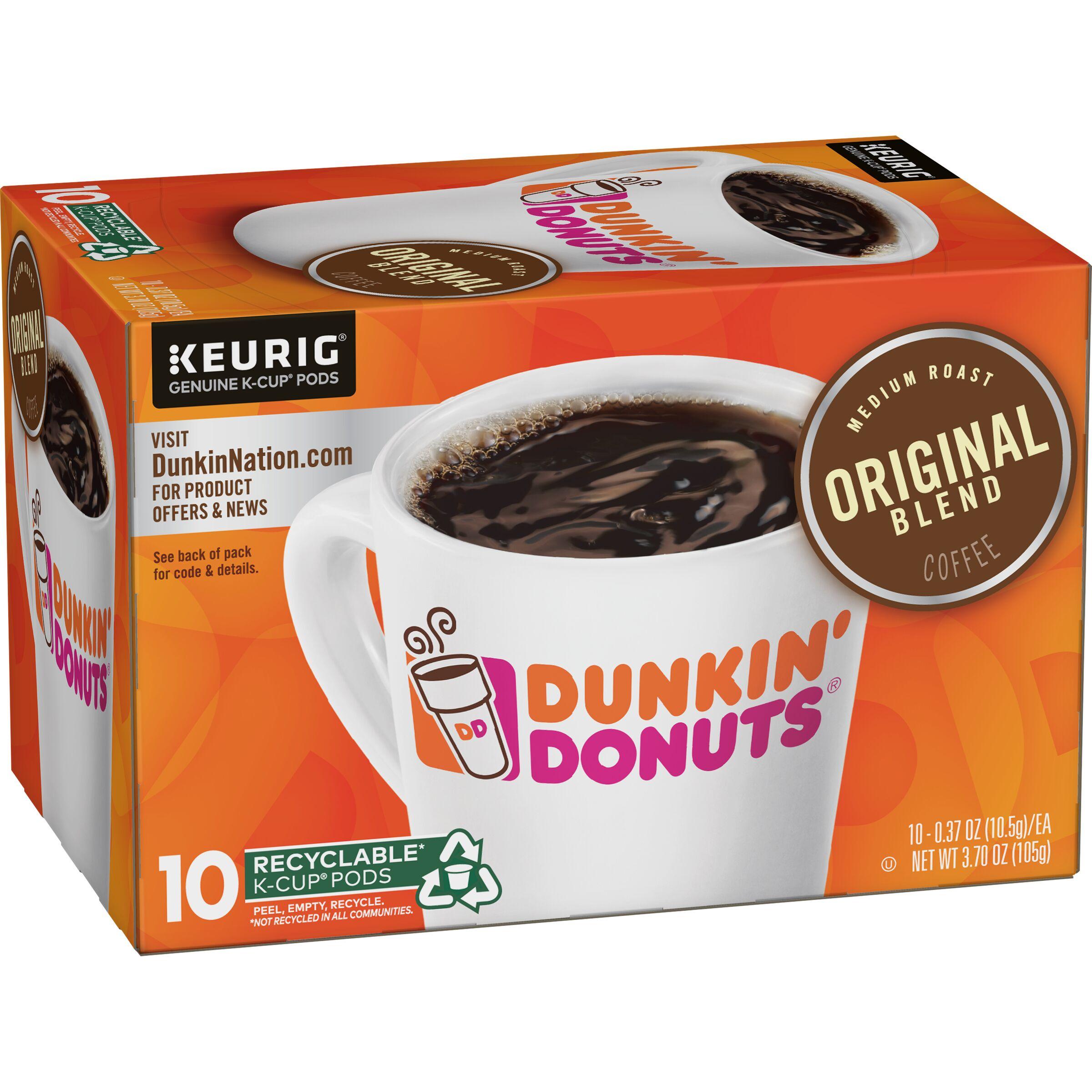 Dunkin' Donuts  Original Blend K-Cup Pods, 10 Count