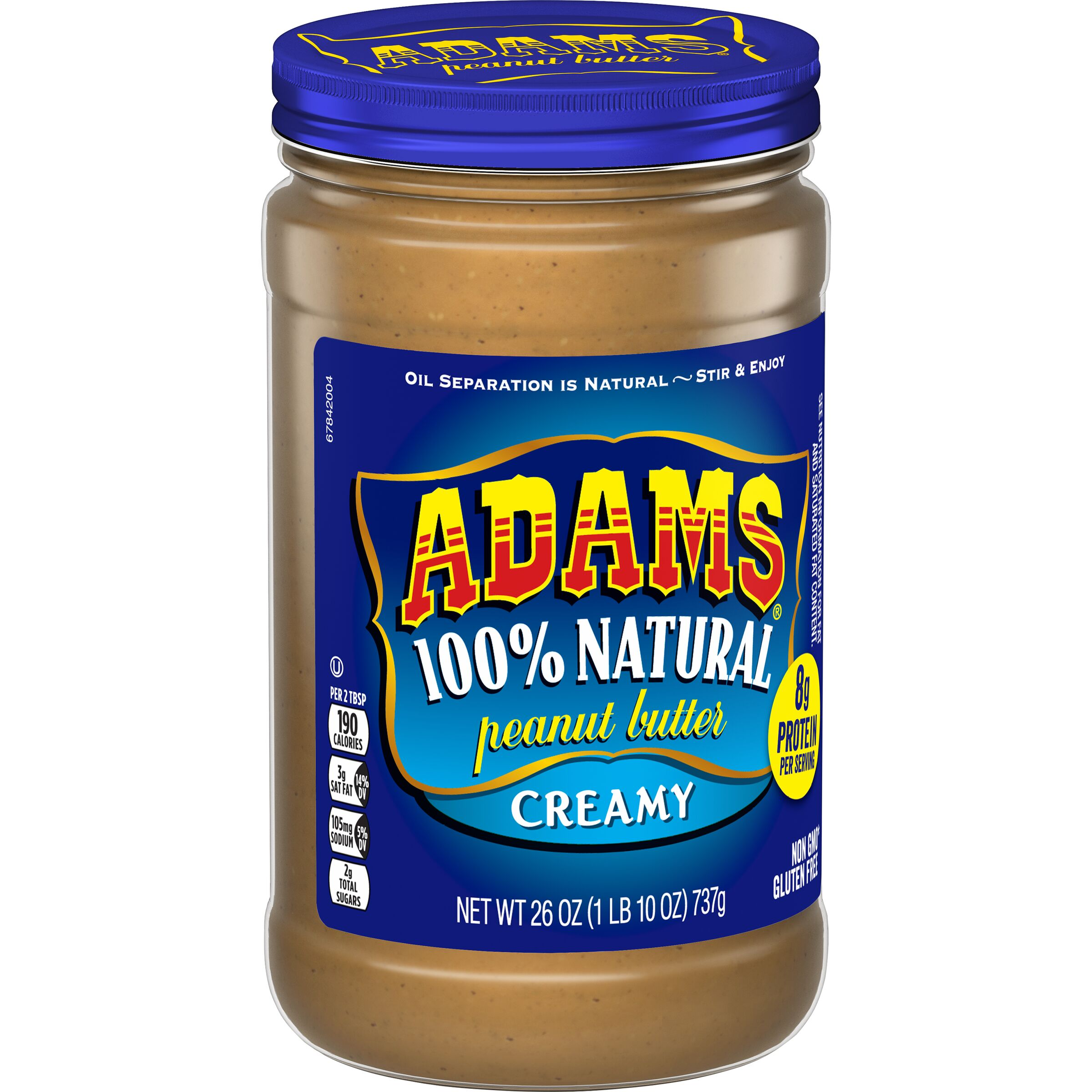 Adams<sup>&reg;</sup>  Natural Creamy Peanut Butter