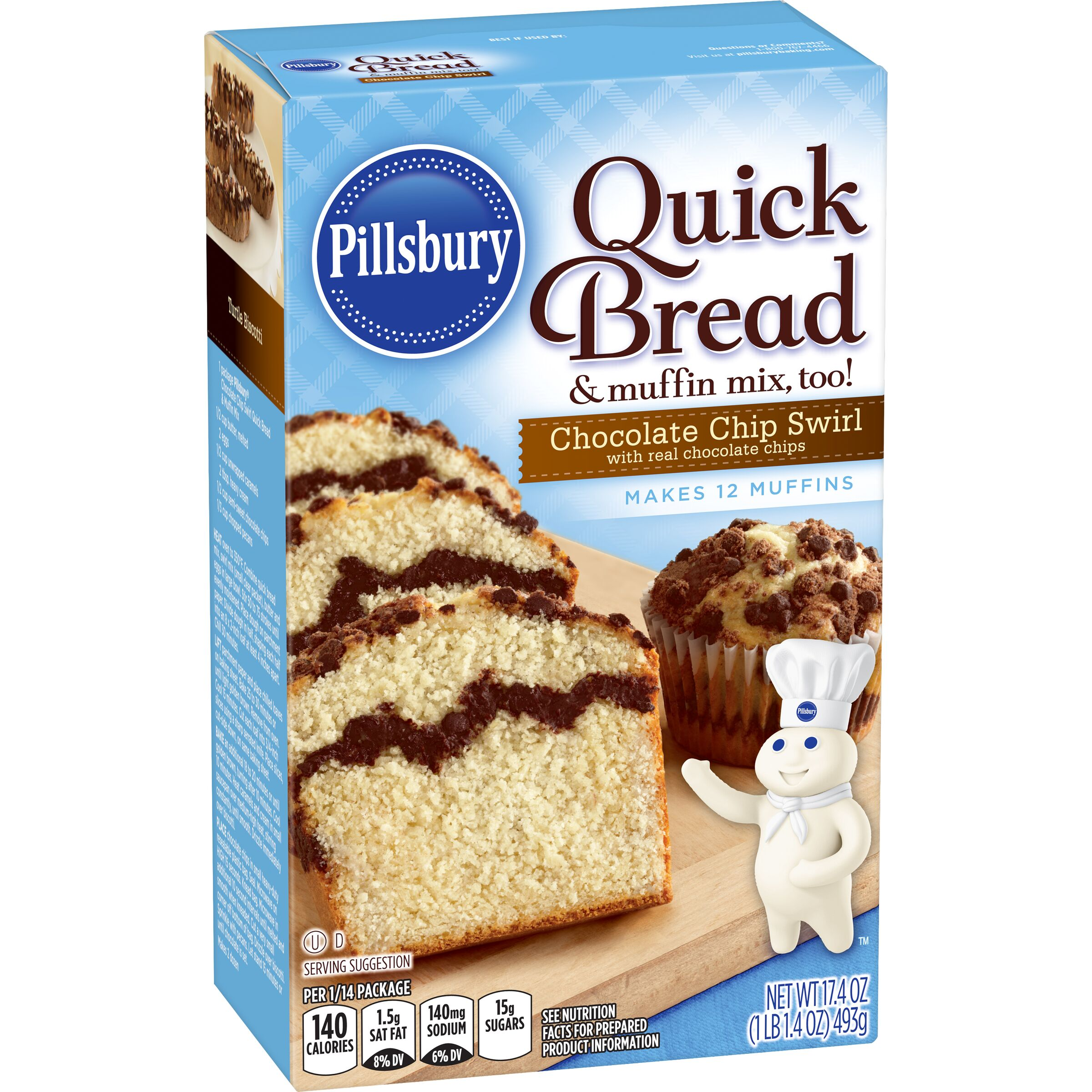 Pillsbury  Chocolate Chip Swirl Quick Bread & Coffee Cake Mix