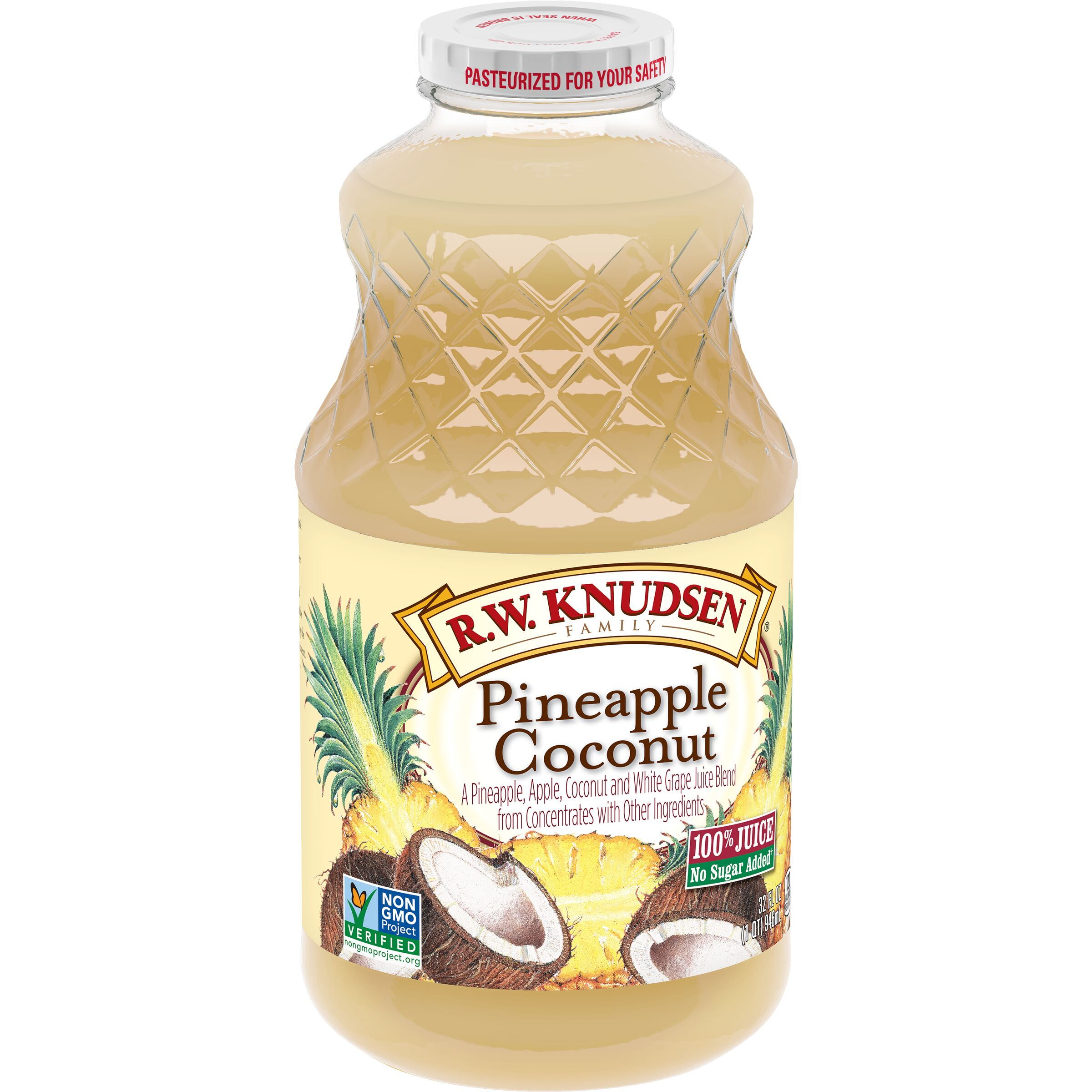 R.W. Knudsen Family  Pineapple Coconut Juice