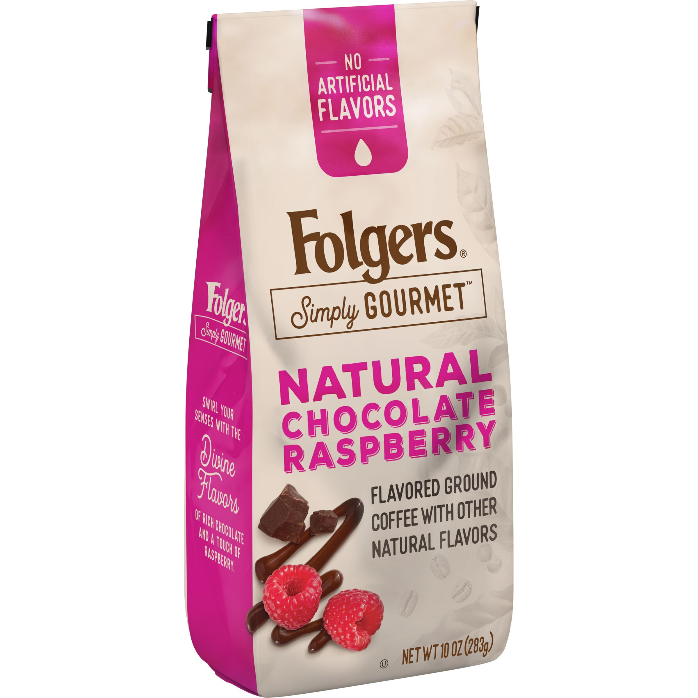 Folgers Simply Gourmet Natural Chocolate Raspberry Flavored Ground Coffee