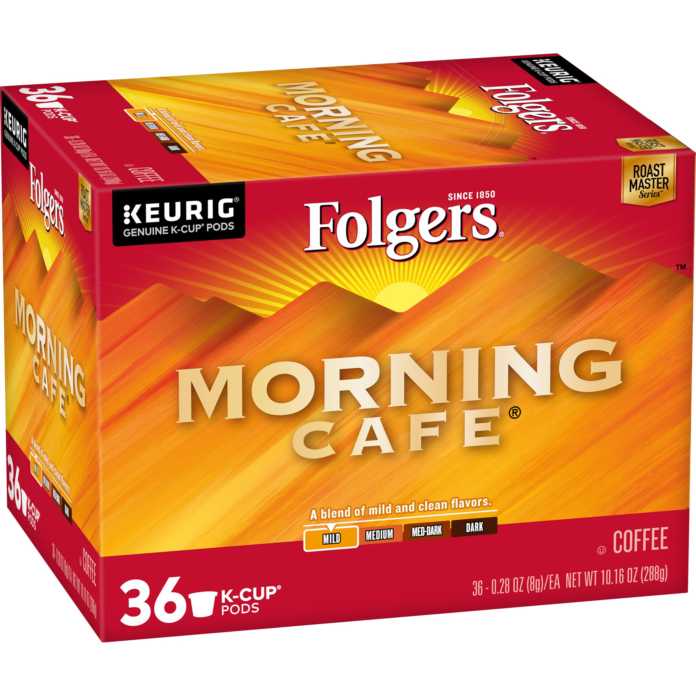 Folgers  Morning Cafe® Coffee K-Cup® Pods, 36 count