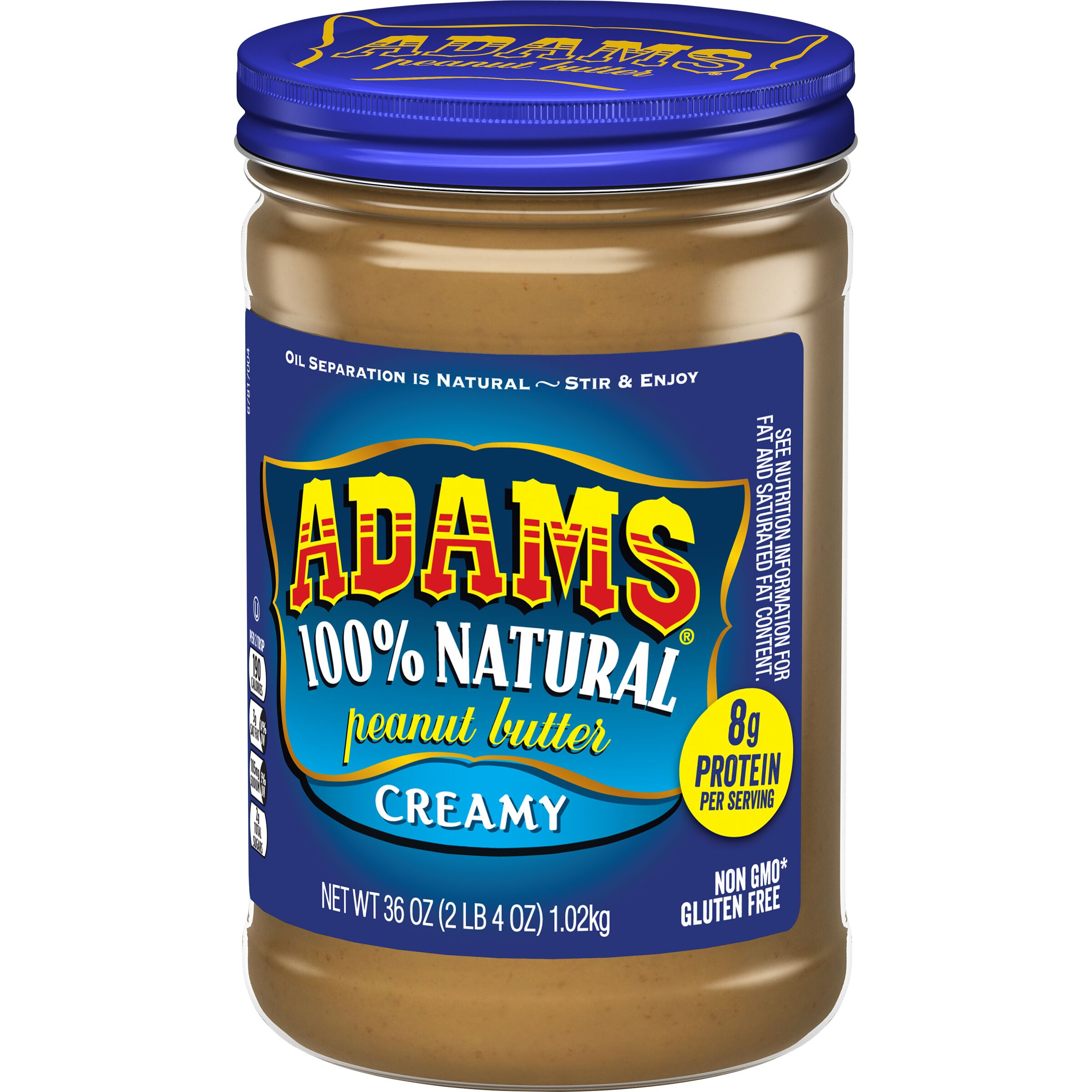 Adams<sup>®</sup>  Natural Creamy Peanut Butter
