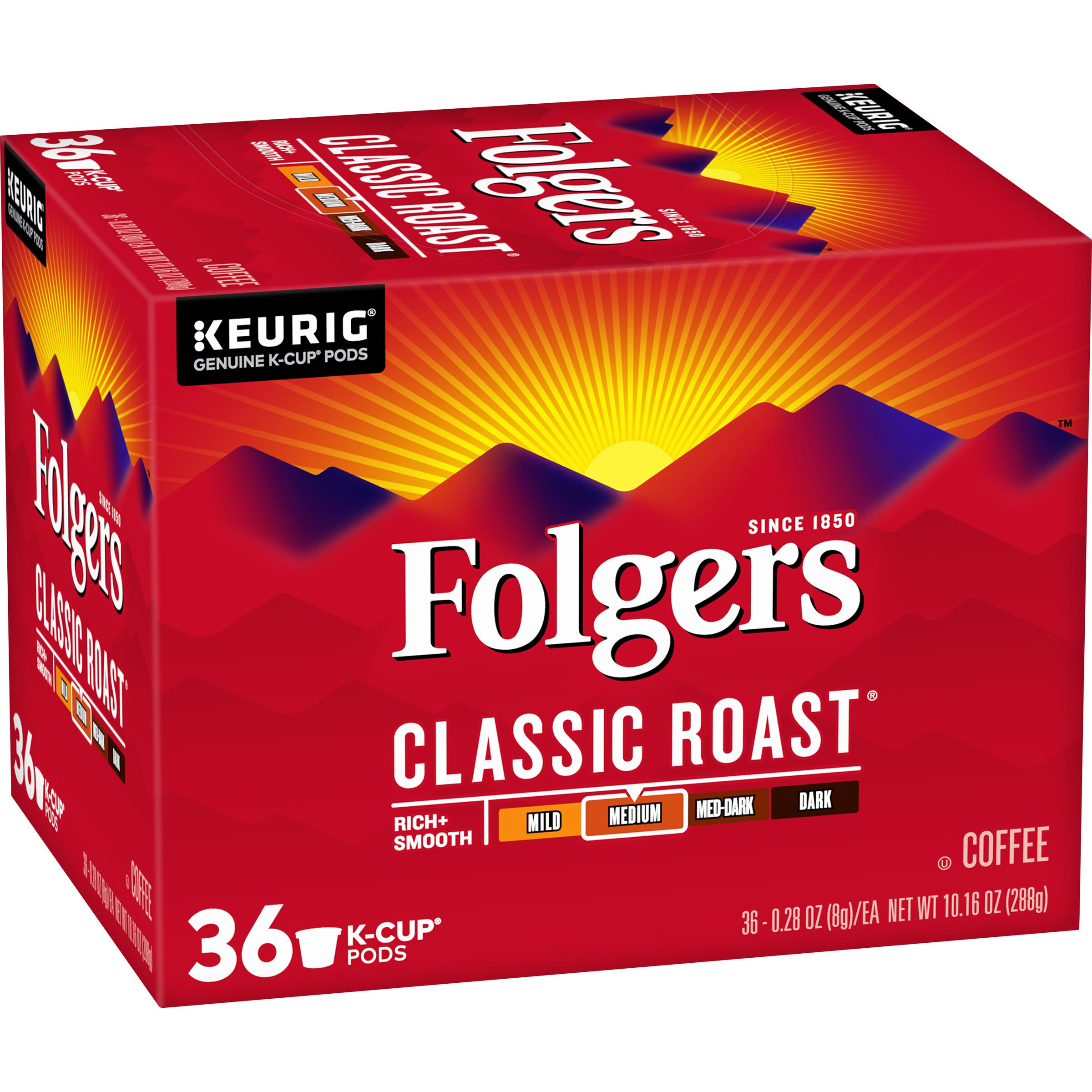 Folgers<sup>®</sup>  Classic Roast® Coffee K-Cup® Pods, 36 Count